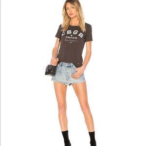 NWT One Teaspoon Junkyard Mini Skirt In Blue Storm